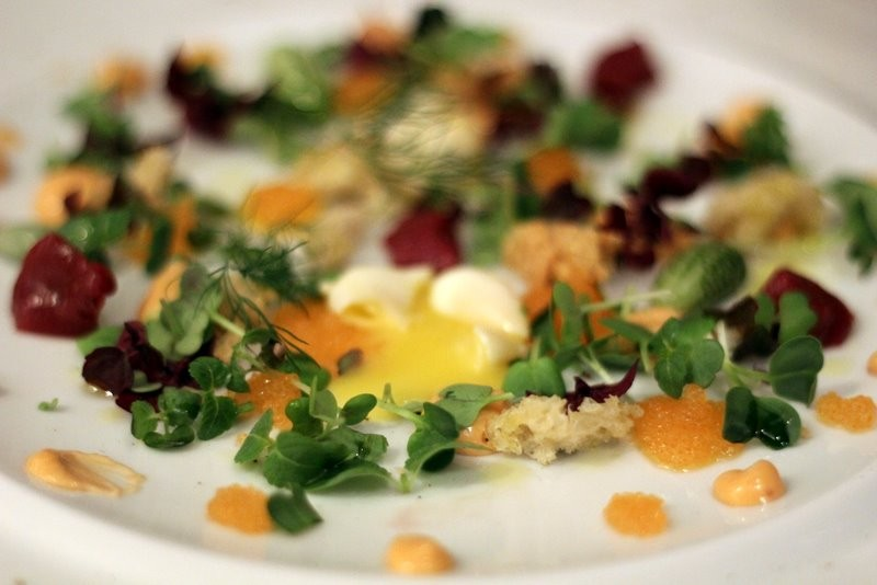 Smoked quail egg with bleak roe, reindeer and other wonders at Sjömagasinet