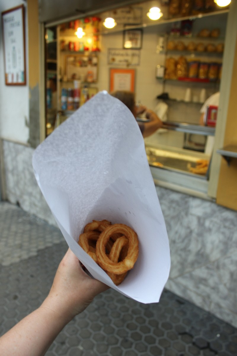 Churros! In Sevilla, Spain