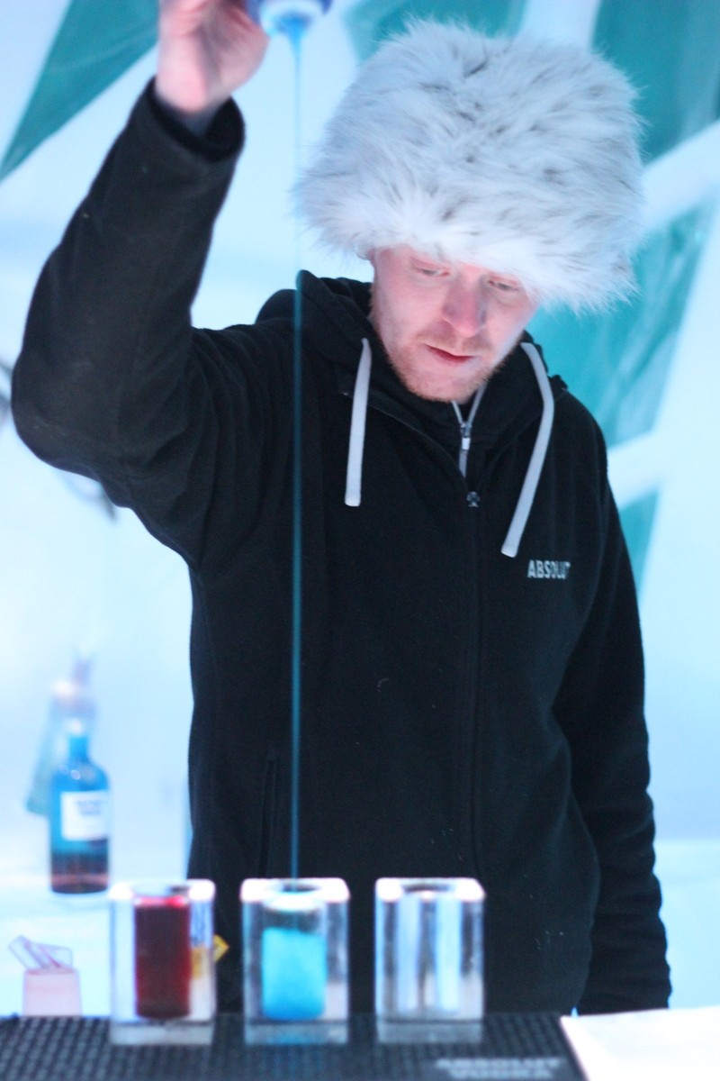 ... some cocktails before hitting my ice bed at the Ice Bar