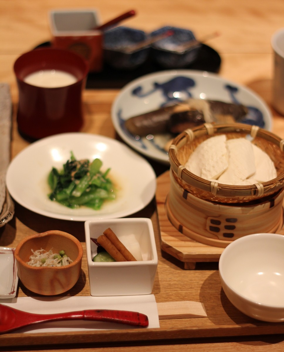 Japanese breakfast at Touzan, Kyoto
