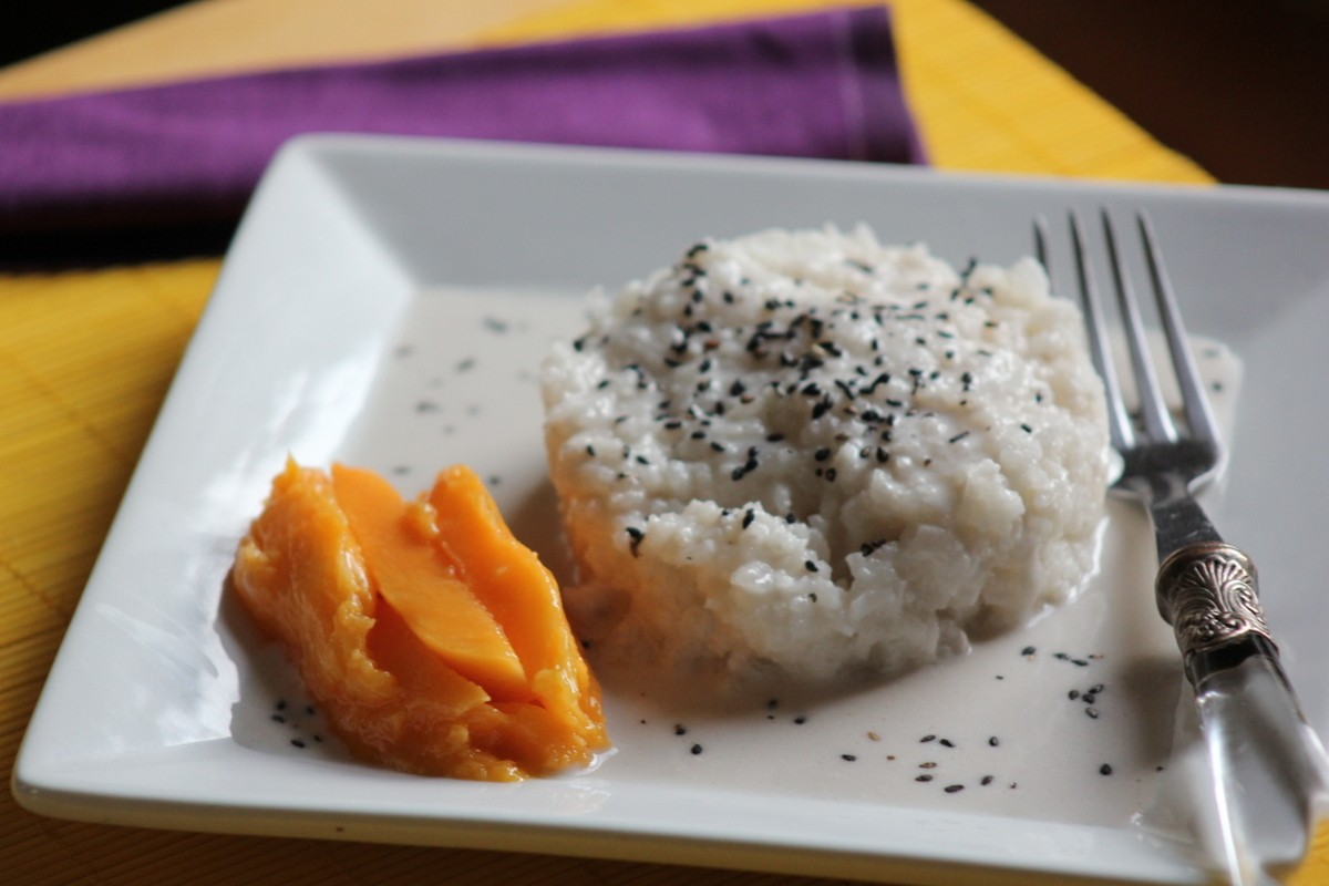Thai Coconut Sticky Rice with Mango