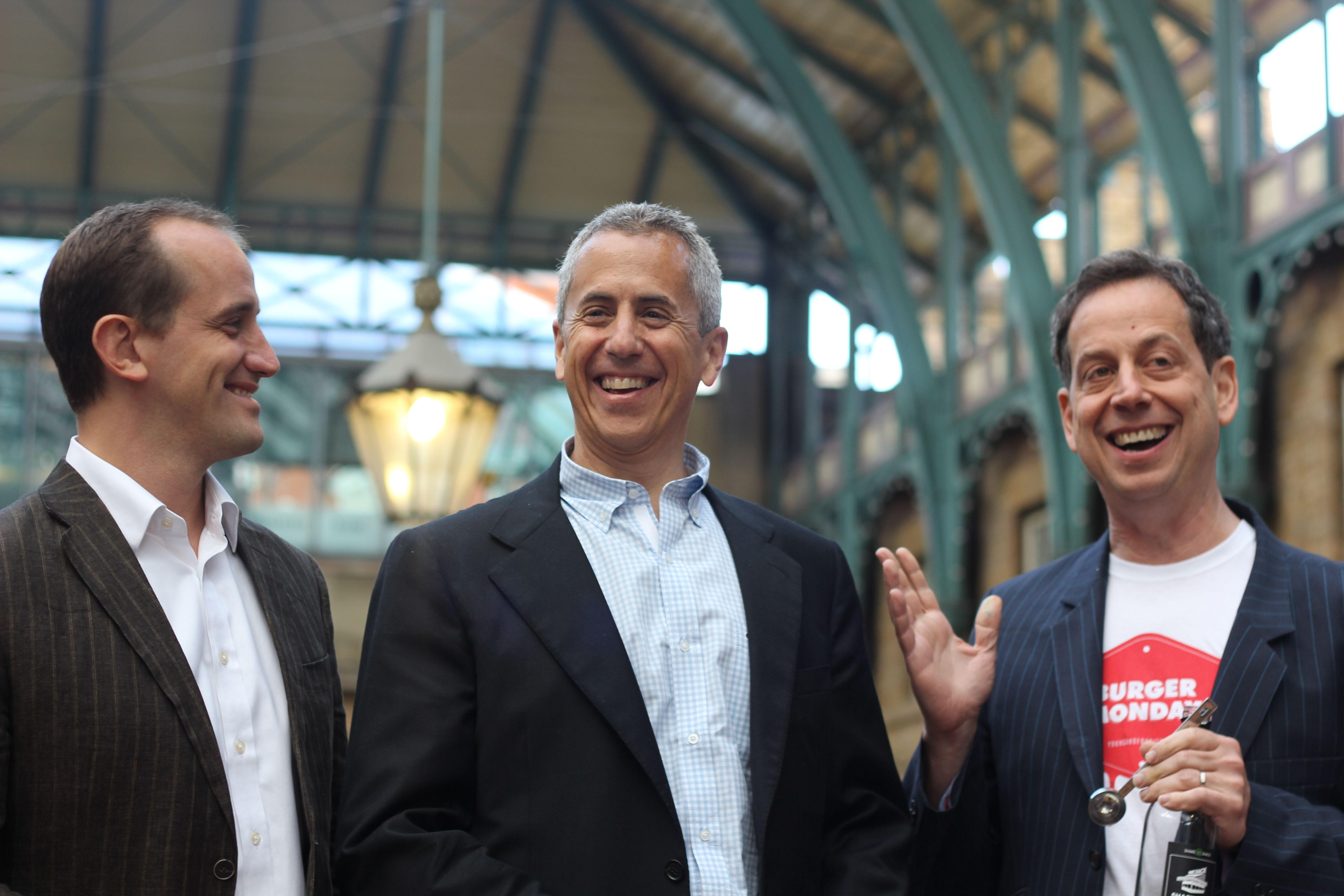 Randy Garutti, CEO of Shake Shack, Danny Meyer, founder & CEO of the Union Hospitality Group (& therefore Shack Shack) and  Daniel Young of Burger Monday and Young & Foodish