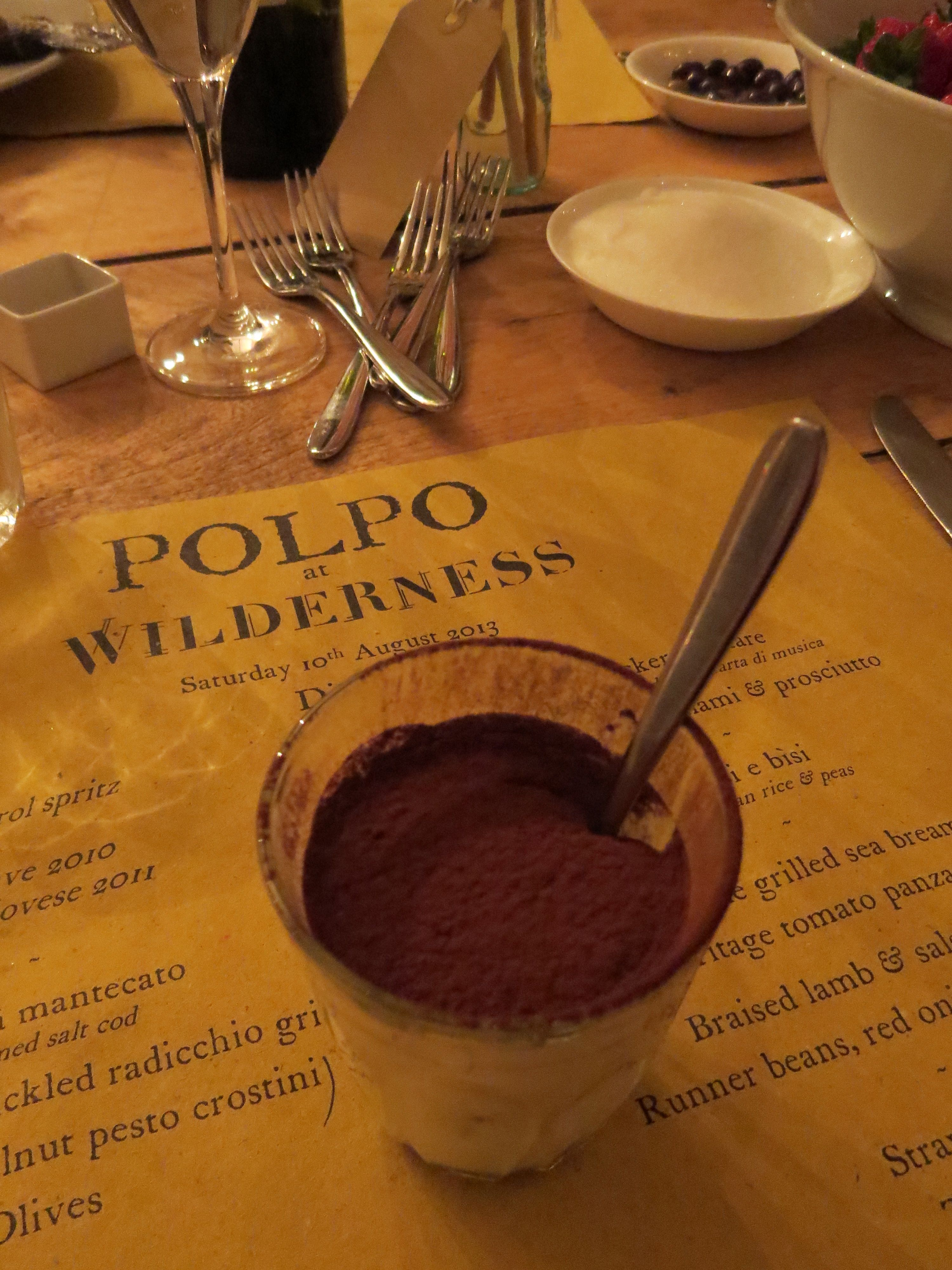 Tiramisu at the Polpo Venetian Banquet at Wilderness