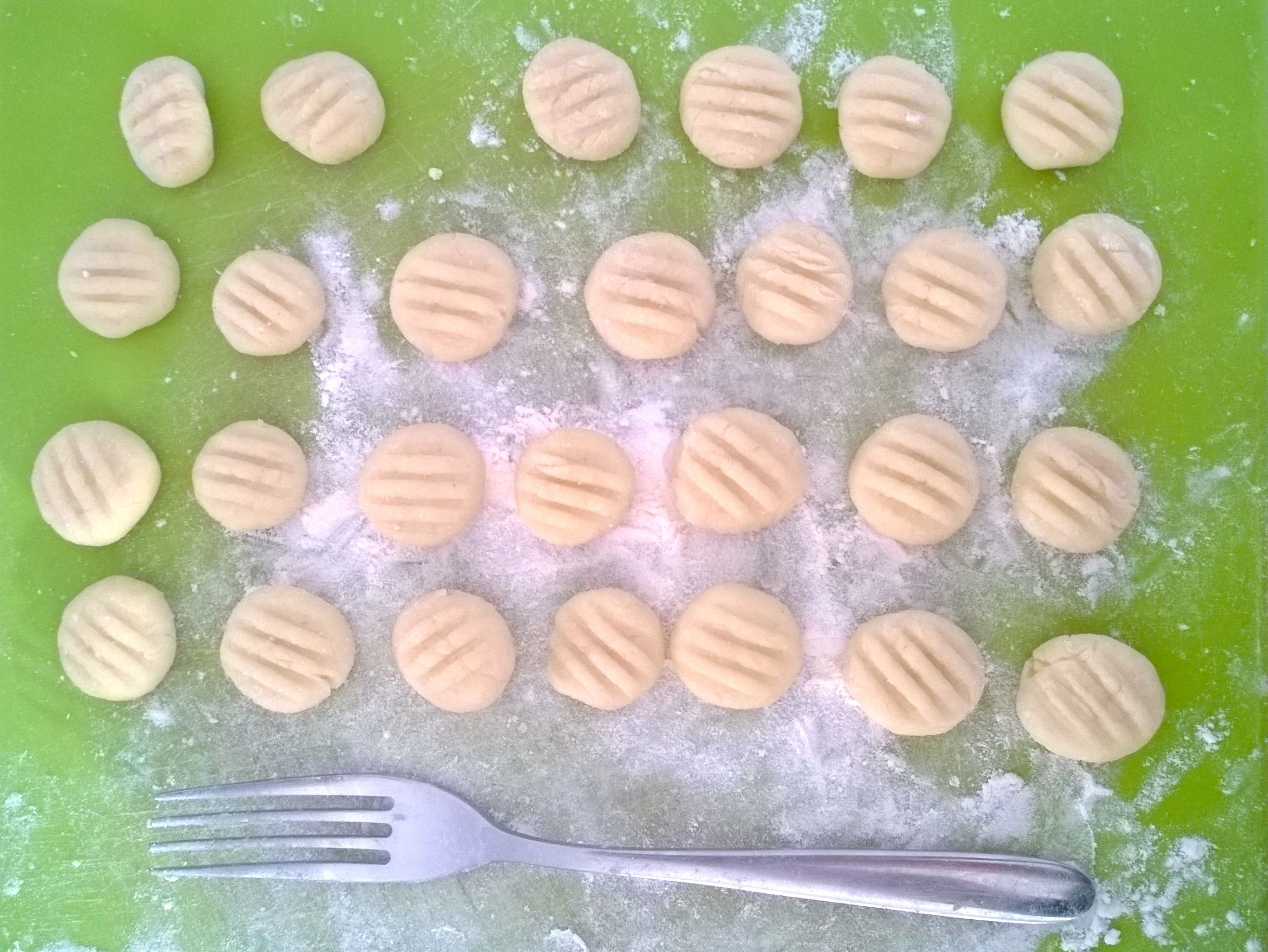Homemade gnocchi (another phone photo - my camera was stolen a few weeks ago so bear with me!)