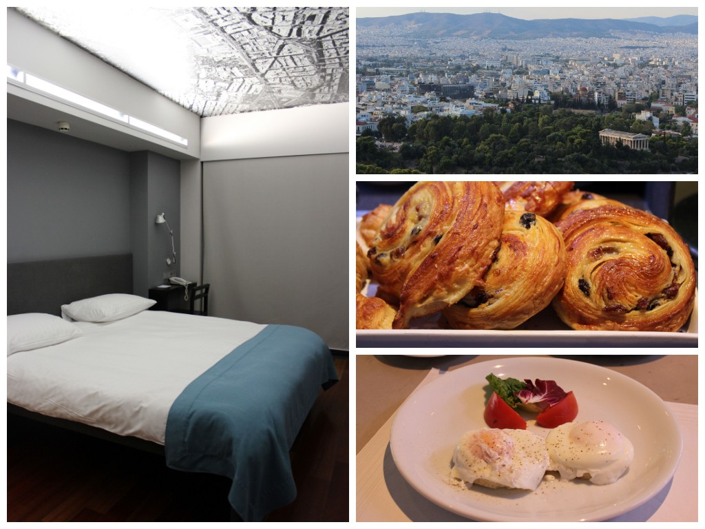 Periscope Hotel in Athens, room, breakfast and a view from the Acropolis