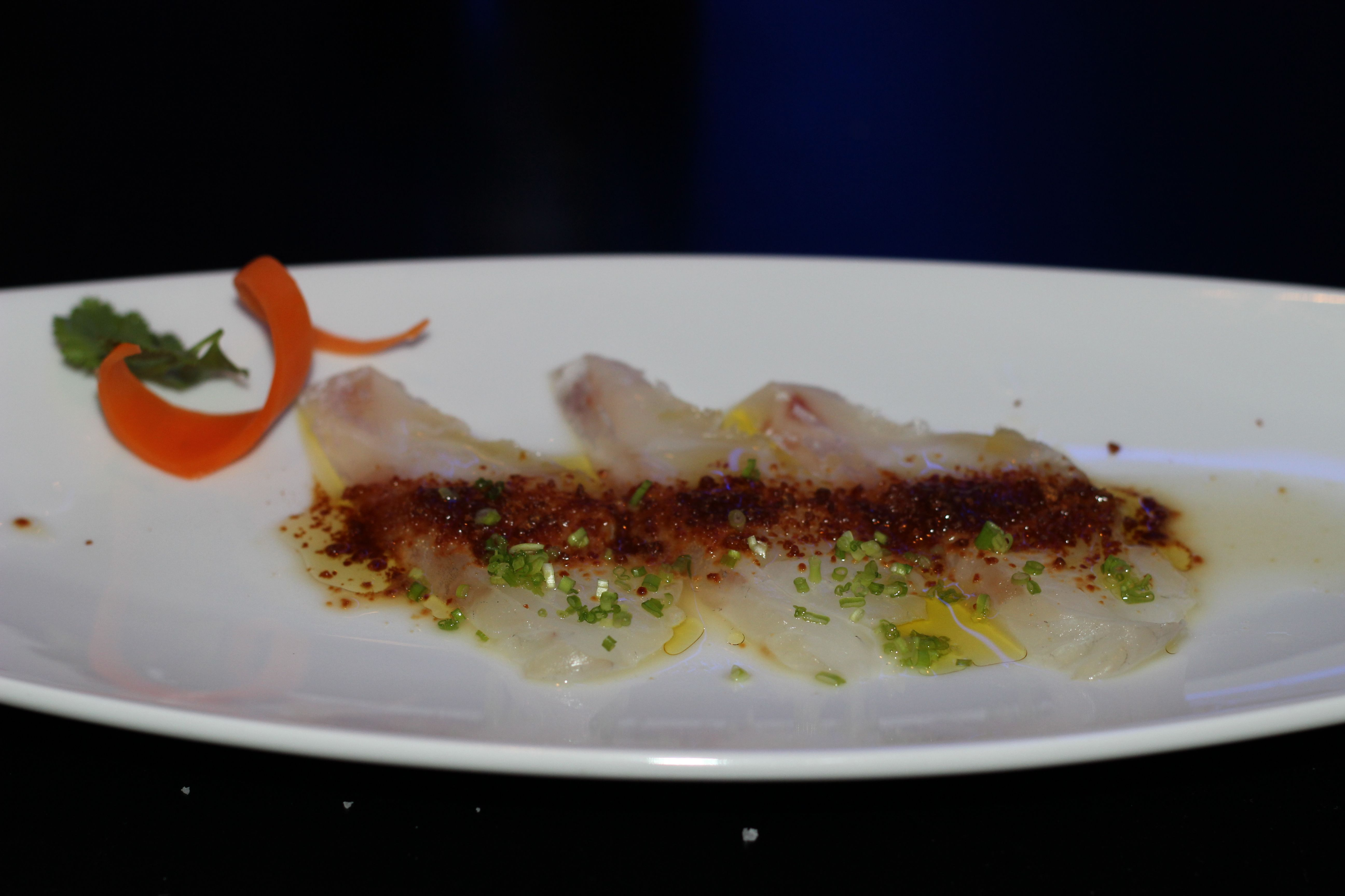 Sea bass with dried miso - the dried miso was a textural and flavour revelation and great with the tender bass