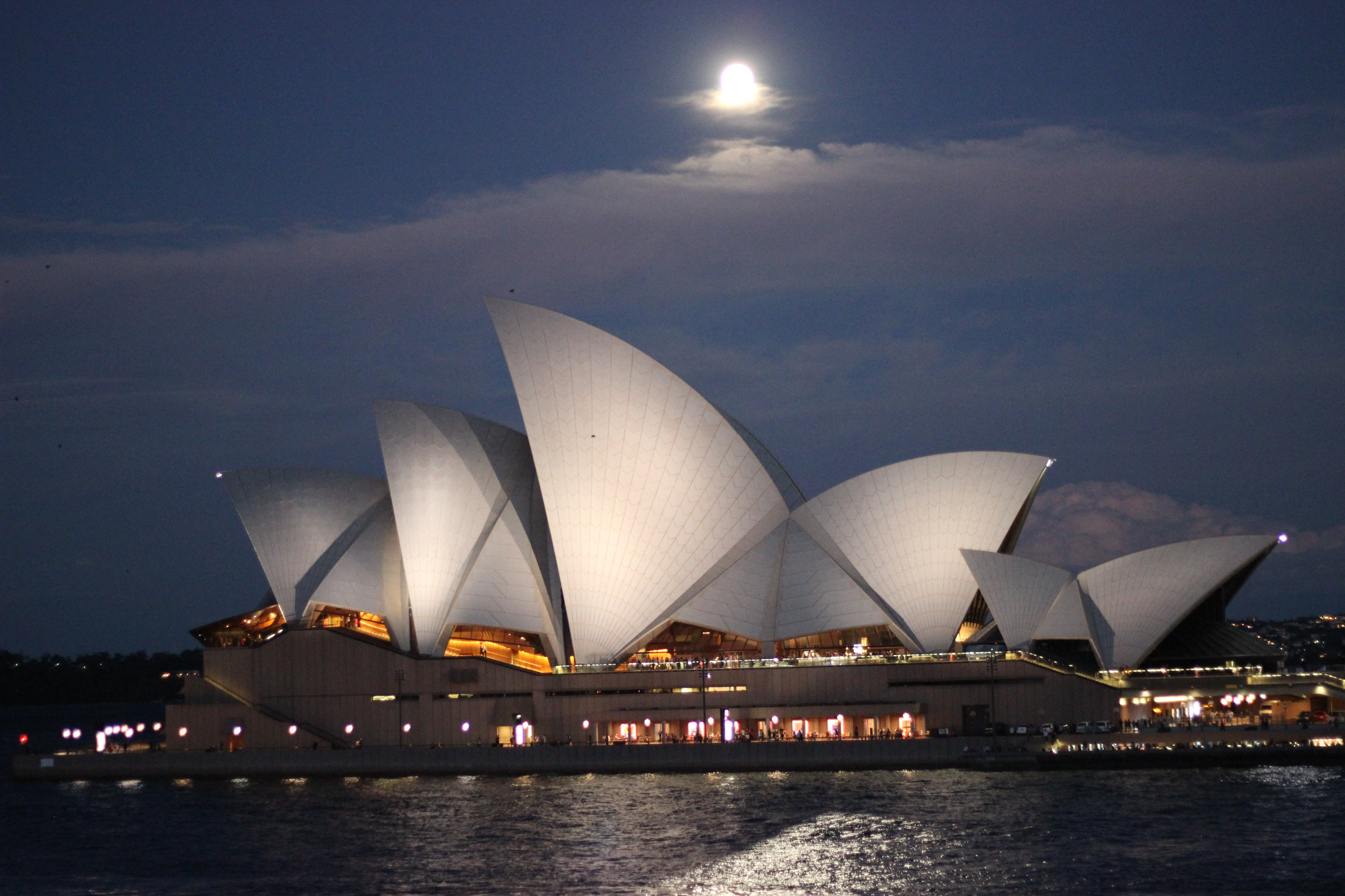 The Opera House in Sydney, photo taken from Quay restaurant