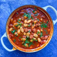 White Bean and Chorizo Stew (A Light and Summery Stew!)
