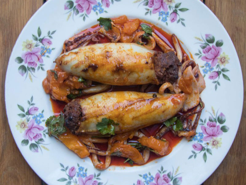 Squid Stuffed with Beef & Chorizo - perfect for the BBQ or cook it in the oven